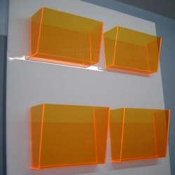Display acrílico parede